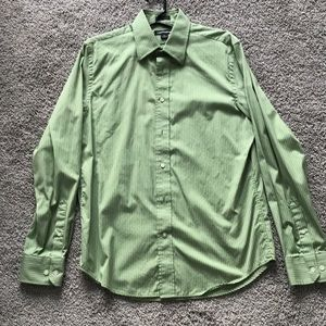 Men's express green button down. Size M 15-15.5